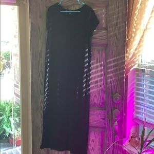 All black maxi dress
